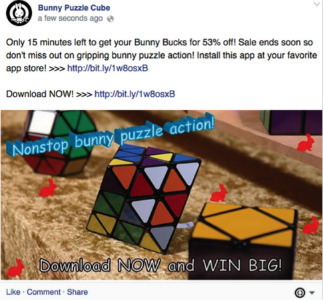 Bunny Puzzle Cube Facebook Promotional Post