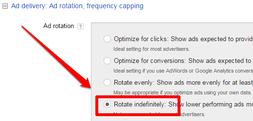 Ad Rotation Settings in Google AdWords