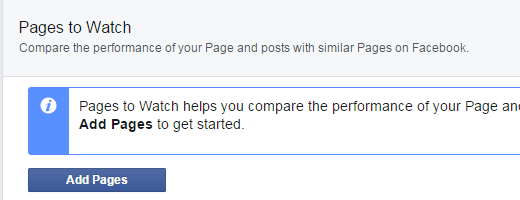 Add Pages to Pages to Watch on Facebook