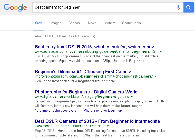 """best camera for beginners"" Google Search Results"
