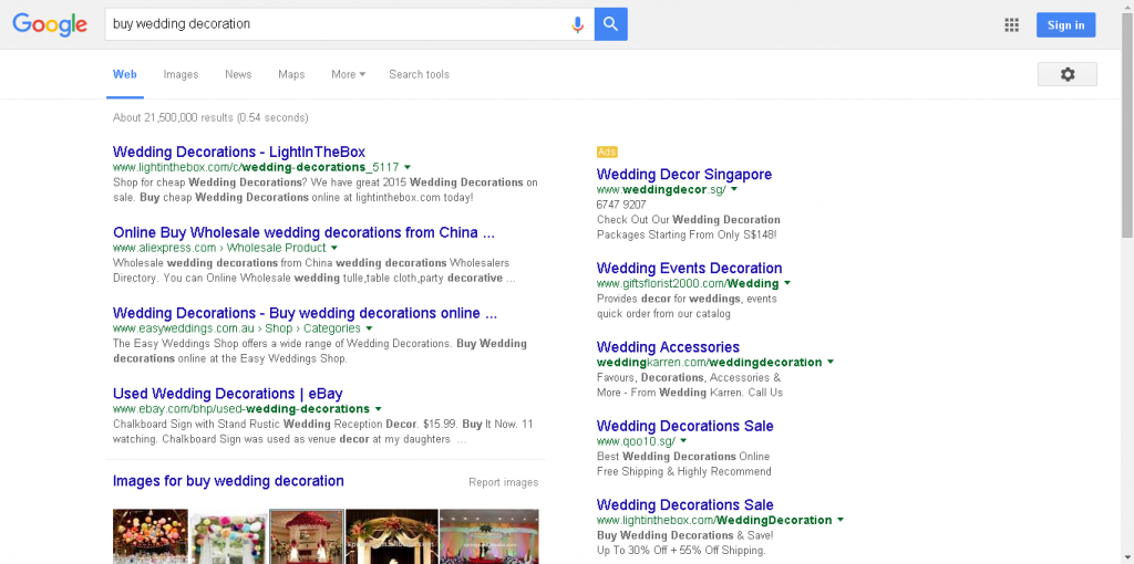 """buy wedding decoration"" Google Search Results"