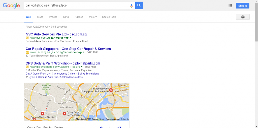"""car workshop near raffles place"" Google Search Results"