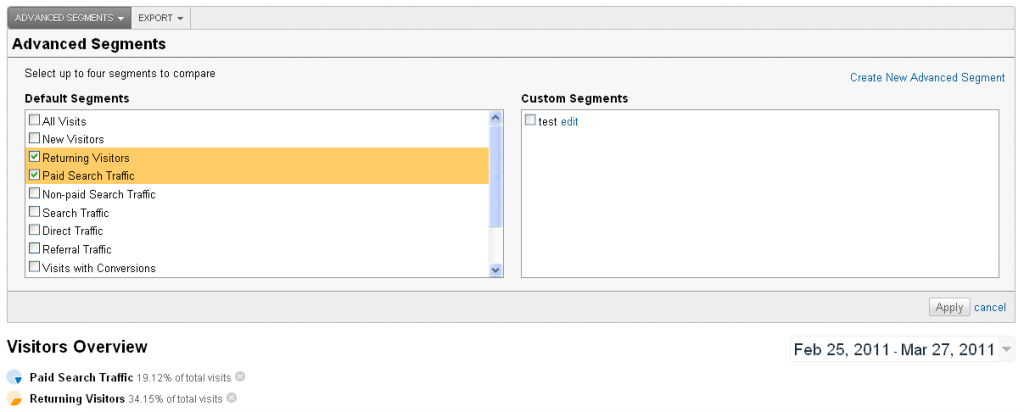 more flexible advanced segments on Google Analytics