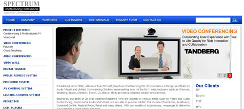 Spectrum Conferencing uses clickTRUE SEM